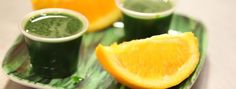 Spirulina shots recipe - blend a batch to store in a glass bottle in the fridge for daily shots.