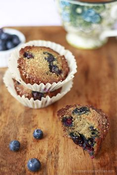 These healthy banana blueberry muffins lasted about 2 minutes. So good and won't break your healthy eating resolutions. #recipe