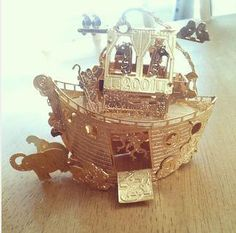 Vintage 23kt gold Noahs ark Christmas by FlowerChildCharms on Etsy Get your Gold Vintage Christmas Ornament Here!