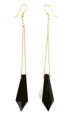 Geo Earrings Black. Sarah Rose would love these.