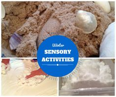 Winter Sensory Bins for Sensory Stay and Play Series from Mommy University at www.mommyuniversitynj.com