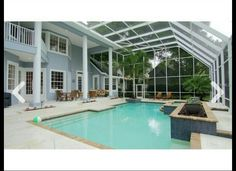 Screened in pool and patio oasis.