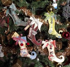 paper stocking ornaments