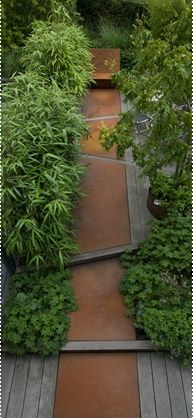 Garden Path in corten steel - This sparks some ideas for me.....