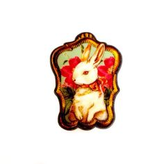 White Royal Rabbit / Bunny With a Bow surrounded with от XenaStyle