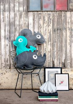 How much do I love these ZooperPets pillows from Danish design duo Hanne and Tobias Scheel Mikkelsen? A LOT! These guys design with sleek style and childhood im