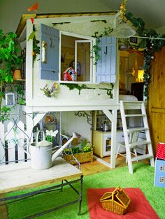 For families with kids, a spacious and safe kids' playroom is very important. Did you plan to design playroom for your kids, but not start? Maybe you can come and get some impressive ideas here. Kid Spaces, Small Spaces, Indoor Playroom, Ikea Kura, Cool Kids Rooms, Cool Tree Houses, House Beds, Kids Decor, Boy Decor
