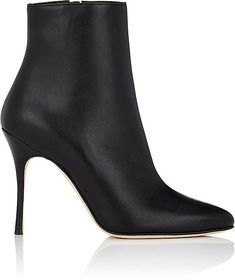 Manolo Blahnik Women's Insopo Leather Ankle Boots