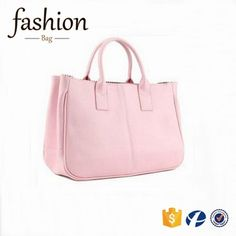 4b9ced6b1 CR new business ideas europe most popular items simple style ladies leather  handbag pink color pu tote bag custom