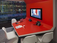 PENSON's giddy design looks like a movie set, but beneath the glamour, it's a place of work. Workspace Design, Office Workspace, Office Interior Design, Office Interiors, Office Spaces, Google Office, Commercial Design, Commercial Interiors, Floor Design