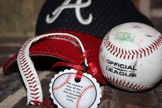 Baseball Bracelet, Baseball crafts, Crafts to make with Baseballs, End of season baseball gift