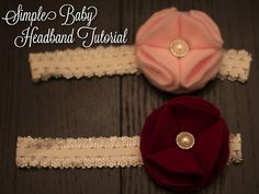 Easy (No Sew!) baby headband tutorial.