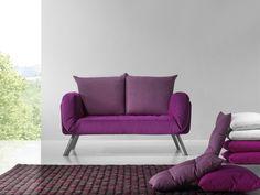 Posición cama de este precioso sofá, al cerrarlo es para 2 plazas con reposabrazos.
