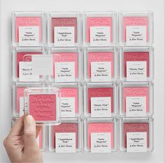 Shakespeare quotes embossed in blush powder at & Other Stories
