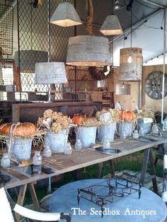 galvanized buckets and pumpkins- perfect fall decor: http://www.copperproper.com/galvanized-metal-tubs.html