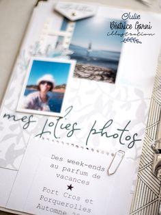 Port Cros, Mini Albums Scrap, Scrapbooking, Creations, Polaroid Film, Illustration, Digi Stamps, Mint Color, Adventure