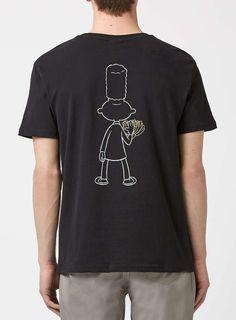 Nickelodeon Black Hey Arnold Gerald Print T-Shirt - Topman