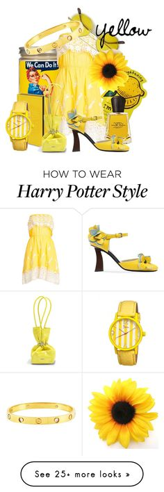 Designer Clothes, Shoes & Bags for Women Harry Potter Style, Harry Potter Characters, Kenzo, Marni, Cartier, Yellow, Polyvore, Design, Women