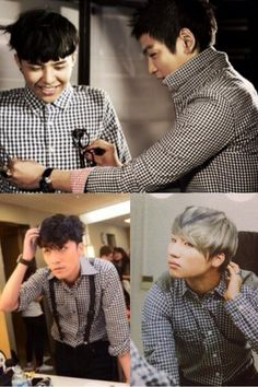 GD, TOP, Seungri and Daesung... just casually looking at this picture and then realizing top is pinching gd's nipples -_-