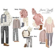 """What To Wear - Winter Family Portraits"" by jessicarizzottophotography on Polyvore"