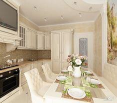Фото Интерьер кухни - интерьер, зd визуализация, квартира, дом, кухня, неоклассика, 20 - 30 м2, средний, интерьер