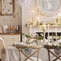 This white and silver dining room is the epitome of elegance and style