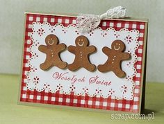 -) / out & about and Christmas baking Create Christmas Cards, Xmas Cards, Diy Cards, Gingerbread Man, Gingerbread Cookies, Stampin Up, Bozo, Christmas Decorations, Holiday Decor