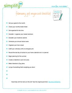 Here is your organizing checklist for the month of February. Download your copy today!