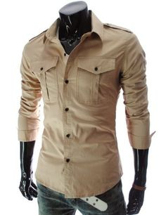 TheLees Mens slim fit strap big pocket shirts Beige Large(US Medium) TheLees,http://www.amazon.com/dp/B00BV2SH1K/ref=cm_sw_r_pi_dp_dRoDrb0SDPSJXB1W
