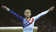 Shannon Miller 1992 and 1996.   She's the most decorated gymnast in U.S. History with 7 Olympic medals.