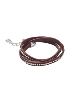 Studded Wrap Bracelet in Pink from hush