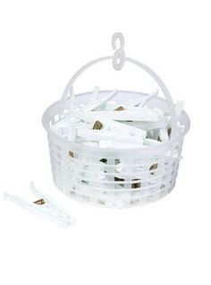 Deluxe Quality Plastic 35 Cloths Pegs with Carry Basket / Clothes Hanging Pegs - UV Light Protected - White Clothes Hanging Pegs http://www.amazon.co.uk/dp/B0117TNPTU/ref=cm_sw_r_pi_dp_U3Ugwb0EC00X5