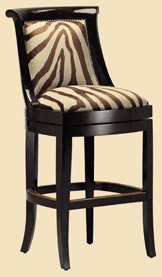 Metropolitan Barstool,Love the Zebra Pattern.