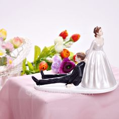 Bride And Groom Resin Wedding Cake Topper (122036191)