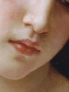Head of a Young Girl (detail), William-Adolphe Bouguereau