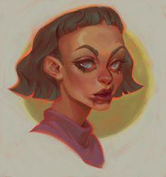 Ознакомьтесь с этим проектом @Behance: «portraits 2» https://www.behance.net/gallery/43657791/portraits-2