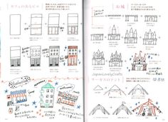 Easy Illustration of Ball-Point Pen Colored by JapanLovelyCrafts