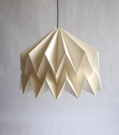ISADORA Origami Paper Lampshade by CutandFoldDesign on Etsy