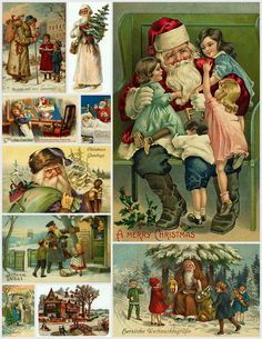 Magic Moonlight Free Images: Christmas Collages for You! ~Great Vintage Christmas images to use for crafts, gifts, cards, tags, decorations, ornaments and more!