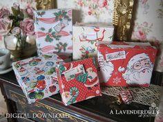 PDF Christmas Box Set B for Dollhouse Miniature by ALavenderDilly