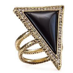 House of Harlow 1960 Triangle Theorem Ring (€20) ❤ liked on Polyvore featuring jewelry, rings, accessories, vintage rings, cocktail rings, boho chic jewelry, triangle jewelry and boho rings
