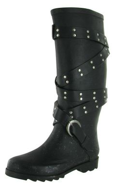 Chooka Rocker Women's Motorcycle Rain Boots. Click here for more Women's Rain boots http://www.streetmoda.com/search?q=women%27s+rain+boots&type=product&search-button.x=-1108&search-button.y=-107 from Streetmoda.com