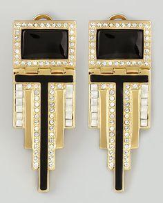Rachel Zoe Deco Drop Earrings - Neiman Marcus $260