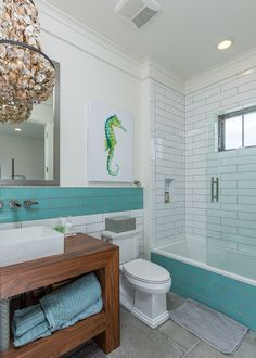 105 best coastal bathrooms images on pinterest in 2018 bathroom beach house decor and home decor - Coastal Bathroom