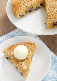 Blueberry Cake with Toasted Coconut Topping - Bake or Break