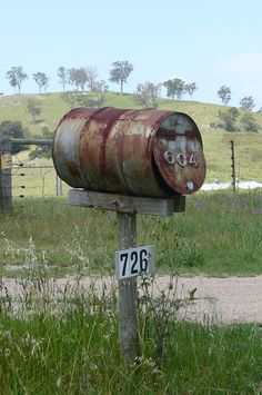 Rural mail box. Great choice if you're going for character rather than beauty.