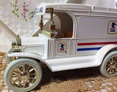 ERTL  U.S.  Mail Truck Ford 1913 Model T Van by CherishedLife, $26.00 Great Christmas present for your postal carrier or your friend that likes to collect Toy Coin Banks!