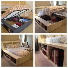 Cool idea to store stuff under the mattress.