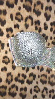 Everything Diamond Crystal Bedazzled Bra, Bling Bra, Rhinestone Bra, Bling Shoes, Bustiers, Diy Fashion, Fashion Bra, Diy Bra, Creative Shoes
