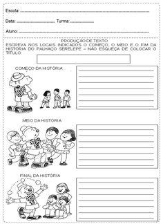 Actividades para produção de texto para o 1º e 2º ciclos
